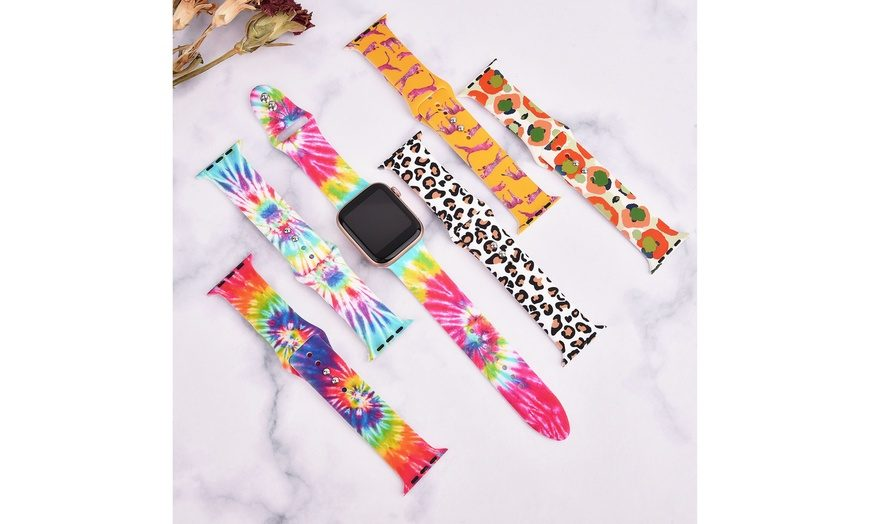 pattern printed silicone watch band supplier manufacturer