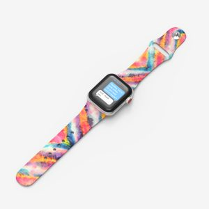 pattern printed silicone band for apple watch