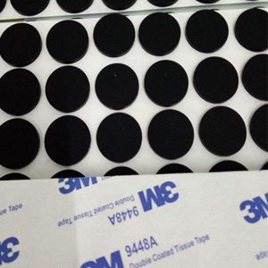 adhesive backed silicone rubber foot