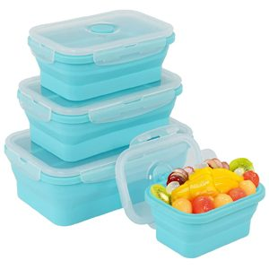 silicone collapsible storage